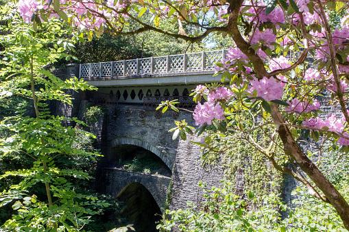 Devil's Bridge - Wales. The bridge is unusual in that three separate bridges are coexistent, each one built upon the previous bridge.