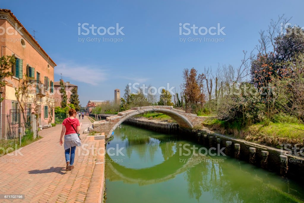 Devil's Bridge, Torcello, Venice - Italy stock photo