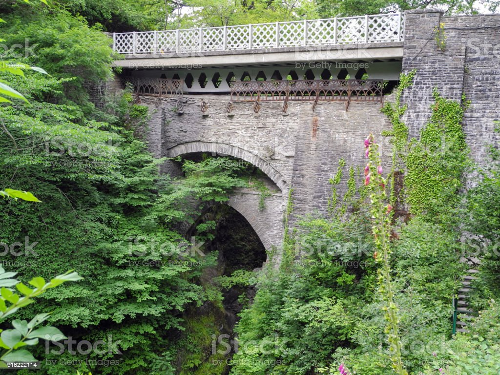 Devils Bridge - Wales stock photo