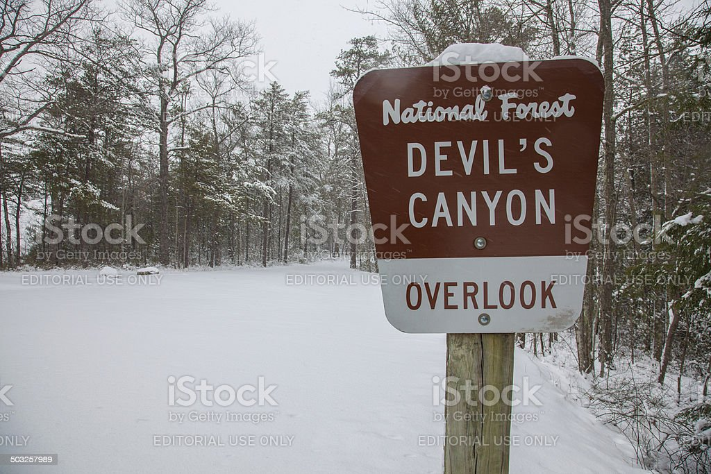 Devil's Canyon stock photo