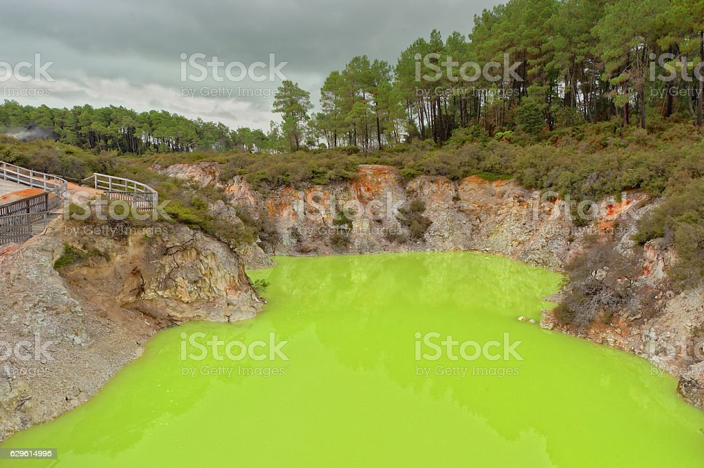 Devils Cave, WaiOTapu stock photo