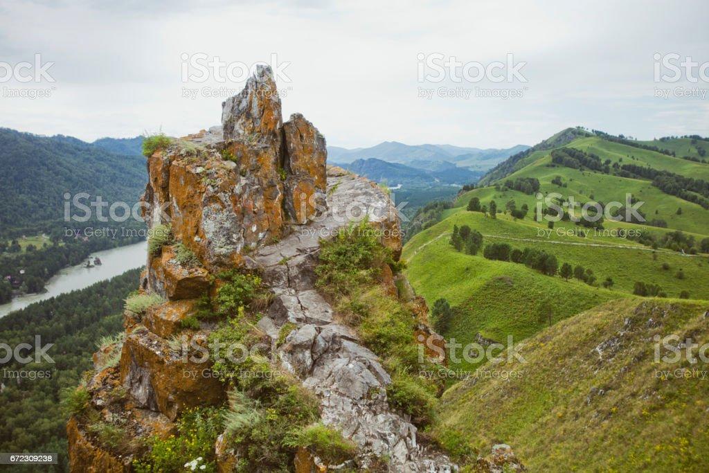 Devil's Finger Rock. Mountain Altai. – Foto