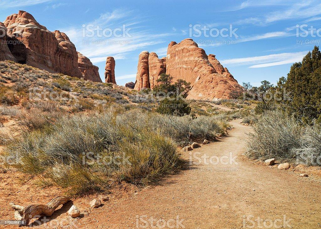 Devils Garden, Arches National Park, Utah, USA stock photo