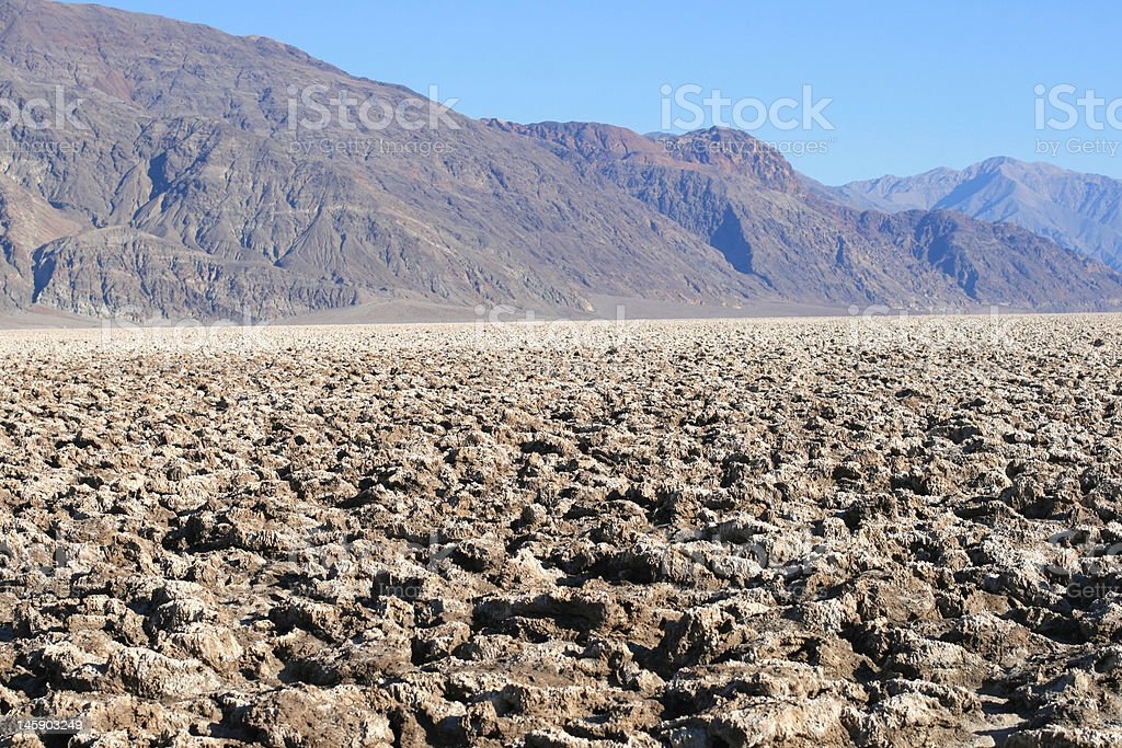 Devil's Golf Course, Death Valley, California royalty-free stock photo