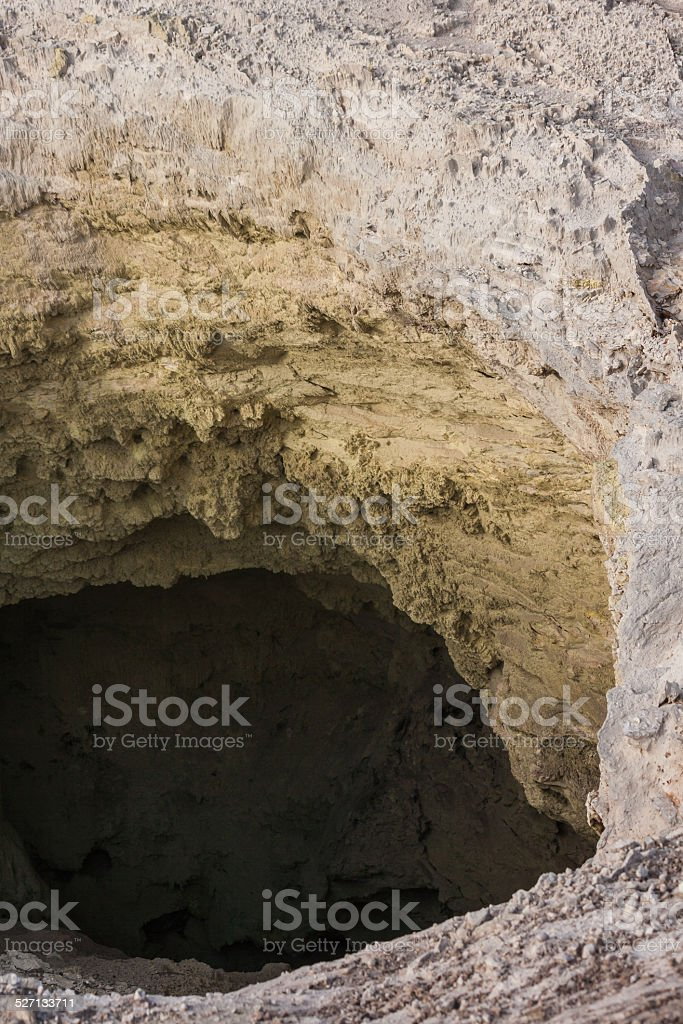 Devil's Home crater at Waiotapu in New Zealand stock photo