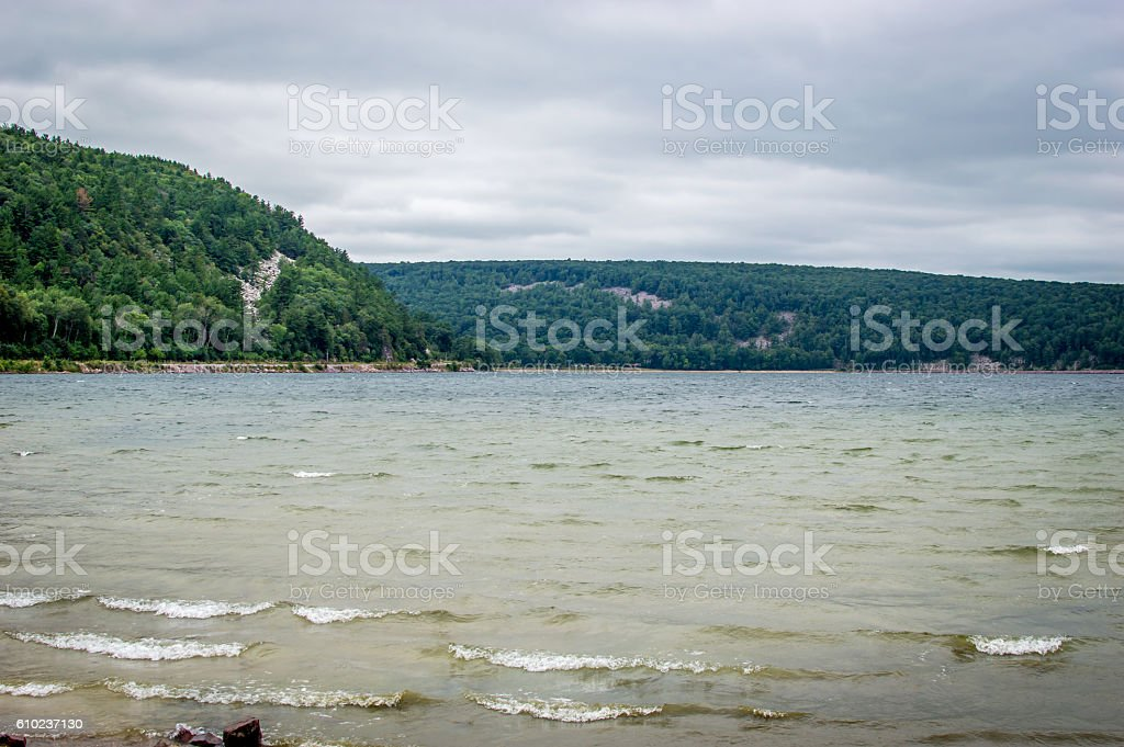 Devils Lake State Park stock photo