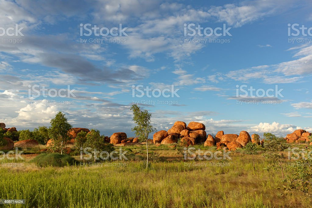 Devil's Marbles at sunset royalty-free stock photo