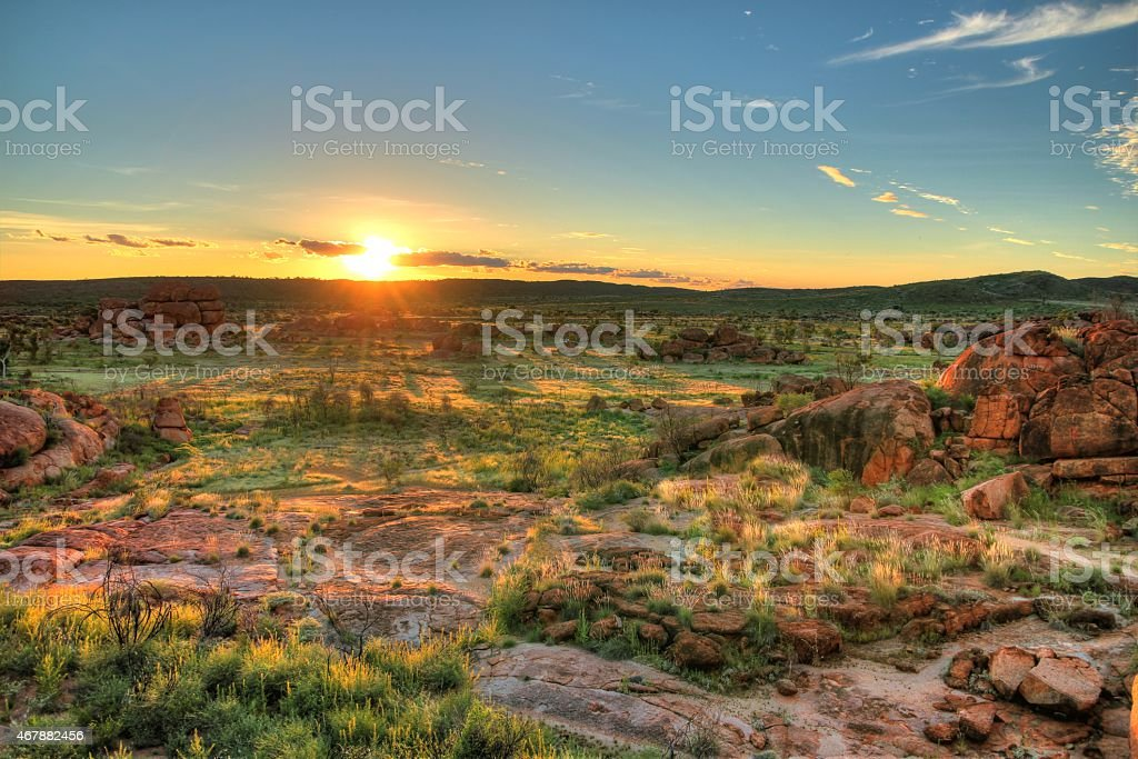 Devils Marbles, Australia stock photo