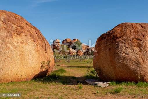 The Devils Marbles are a natural rock formation in the outback of the Northern Territory, Australia.