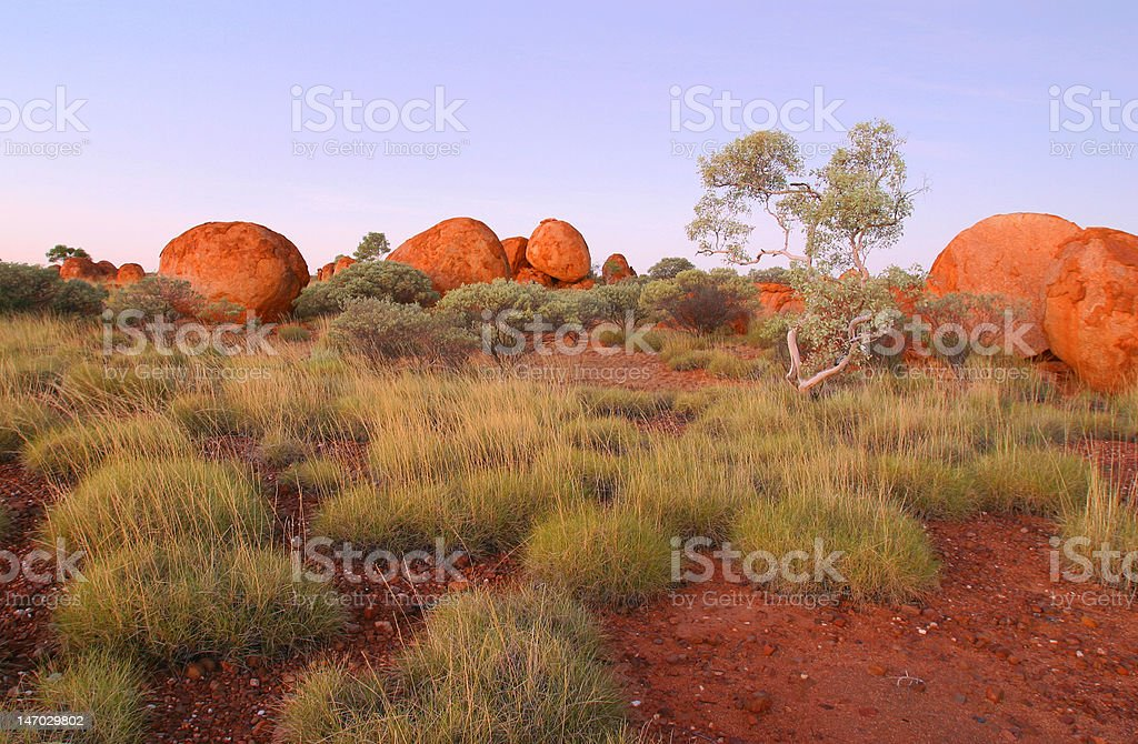 Devils Marbles. Northern Territory Australia. royalty-free stock photo