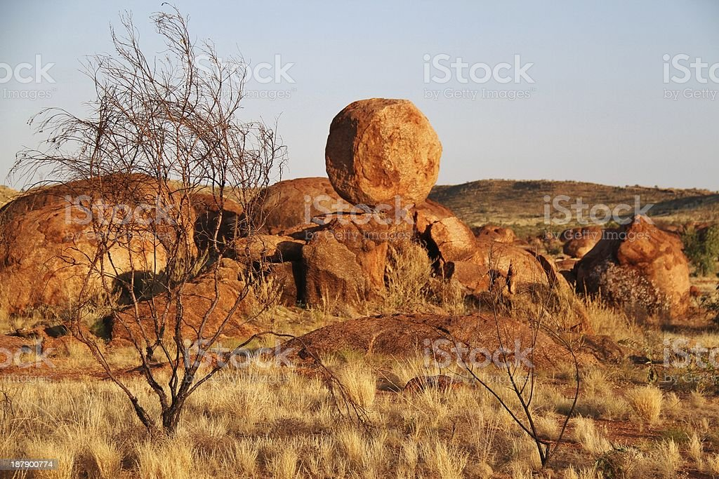 Devils Marbles (Karlu Karlu) stock photo