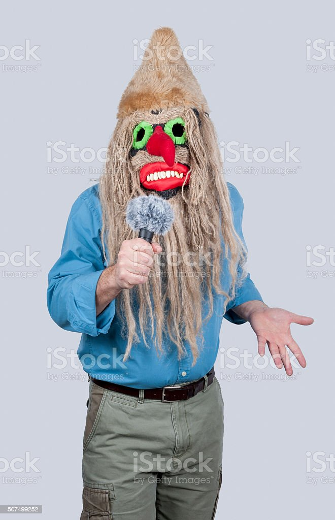 Devil's Microphone stock photo