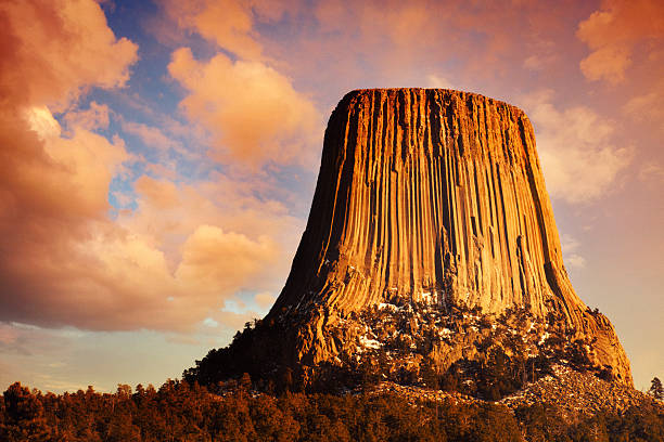 Devil's Tower at Sunset