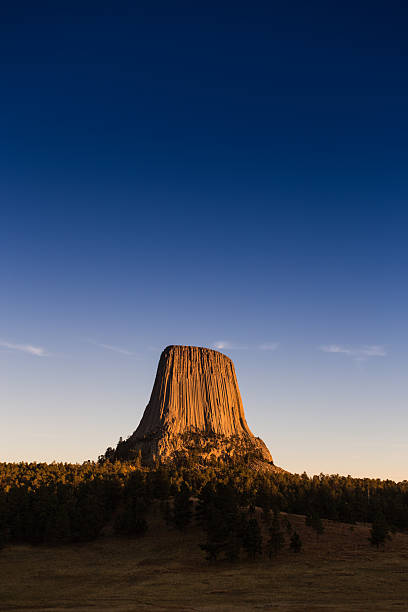 Devil's Tower stock photo