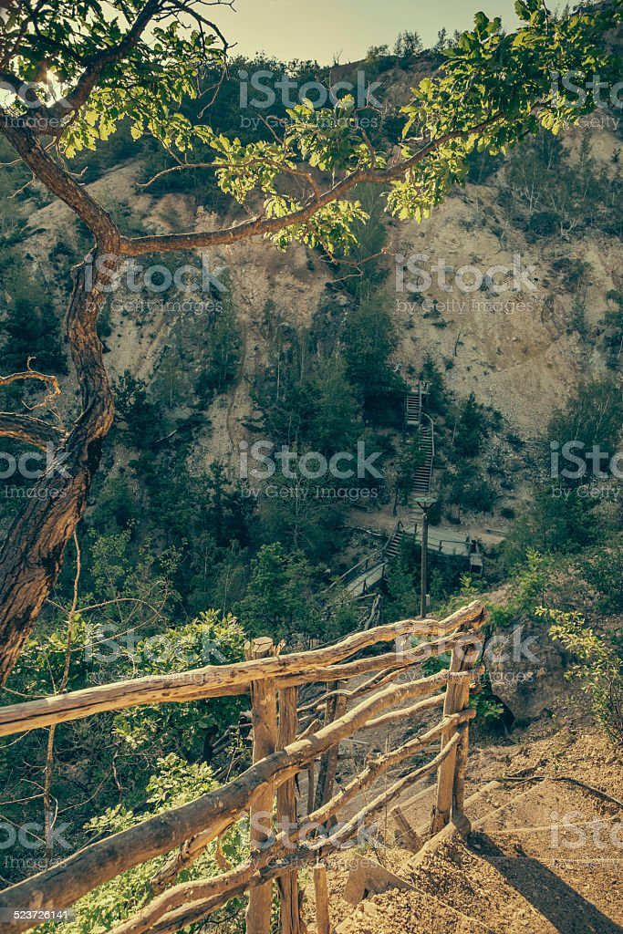 Devil's Town, Serbia stock photo