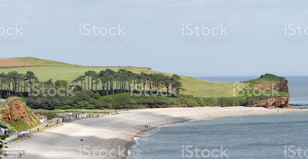 Devon Coast at Budleigh Salterton royalty-free stock photo