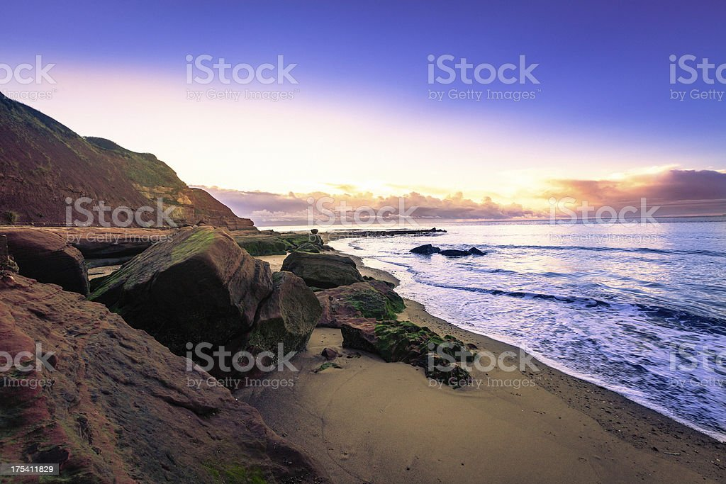 Devon coastline stock photo