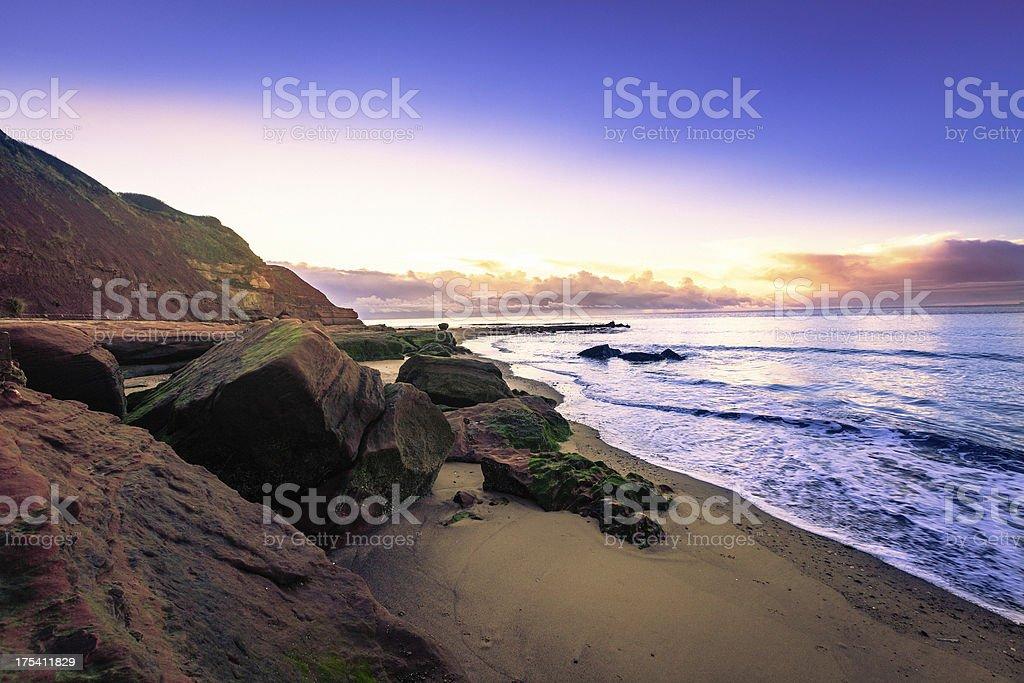 Devon coastline stock photo