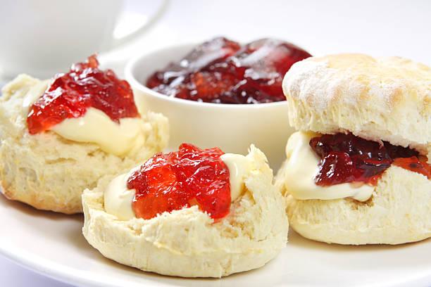 devonshire tea - scone bildbanksfoton och bilder