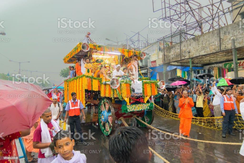 Anhänger um Rath in Kolkata – Foto