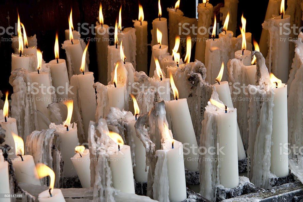 devotion candles stock photo