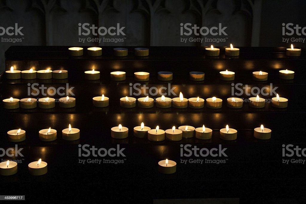 Devotional candles royalty-free stock photo