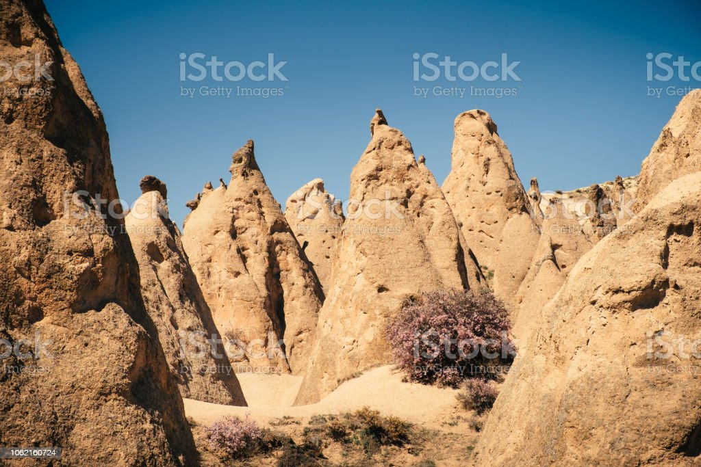 Devrent mountain valley in Cappadocia landscape stock photo