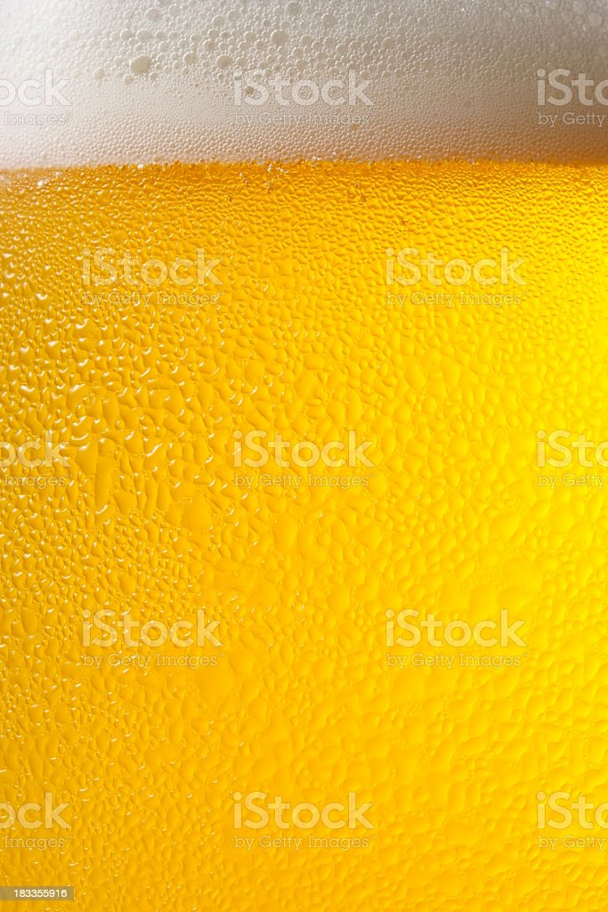 Dewy beer glass texture background stock photo