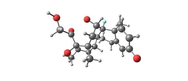 Dexamethasone molecular structure isolated on white – zdjęcie