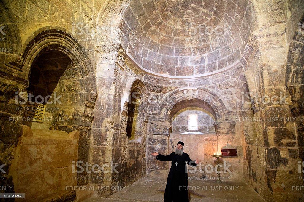 Deyrulzafaran orthodox Syriac monastery in Mardin. stock photo