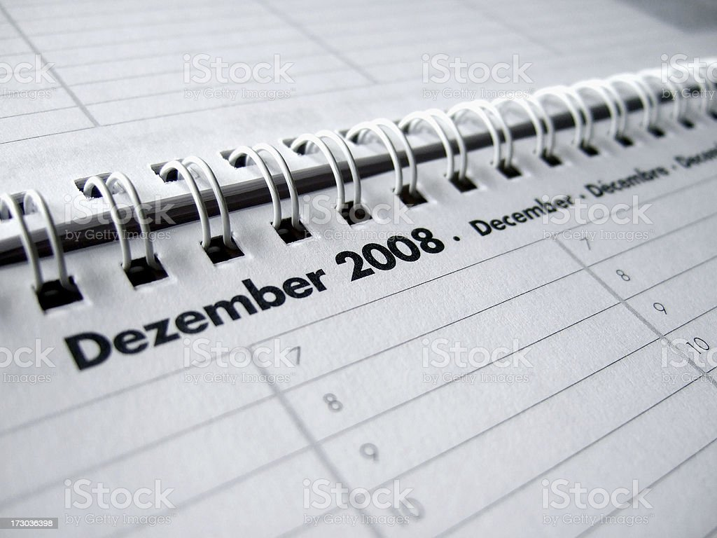 Dezember 2008 stock photo