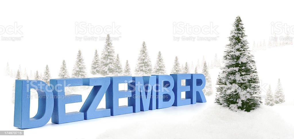 Dezember - german word for December stock photo
