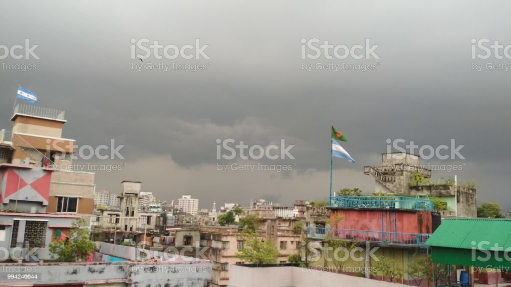 Dhaka cidade - foto de acervo