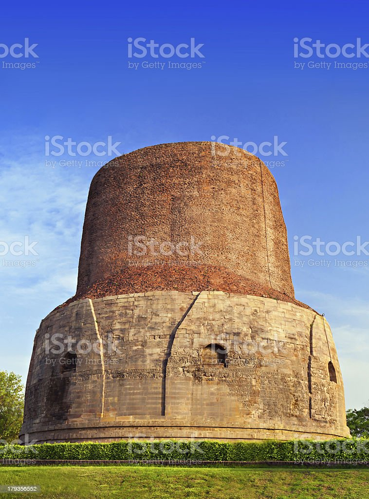 Dhamekh Stupa, India stock photo