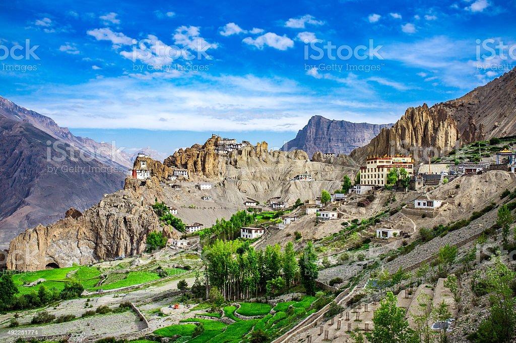 Dhankar Gompa. India. Spiti Valley stock photo