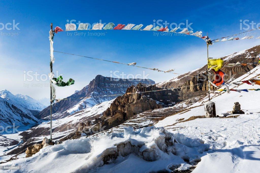 dhankar monastery foto stock royalty-free