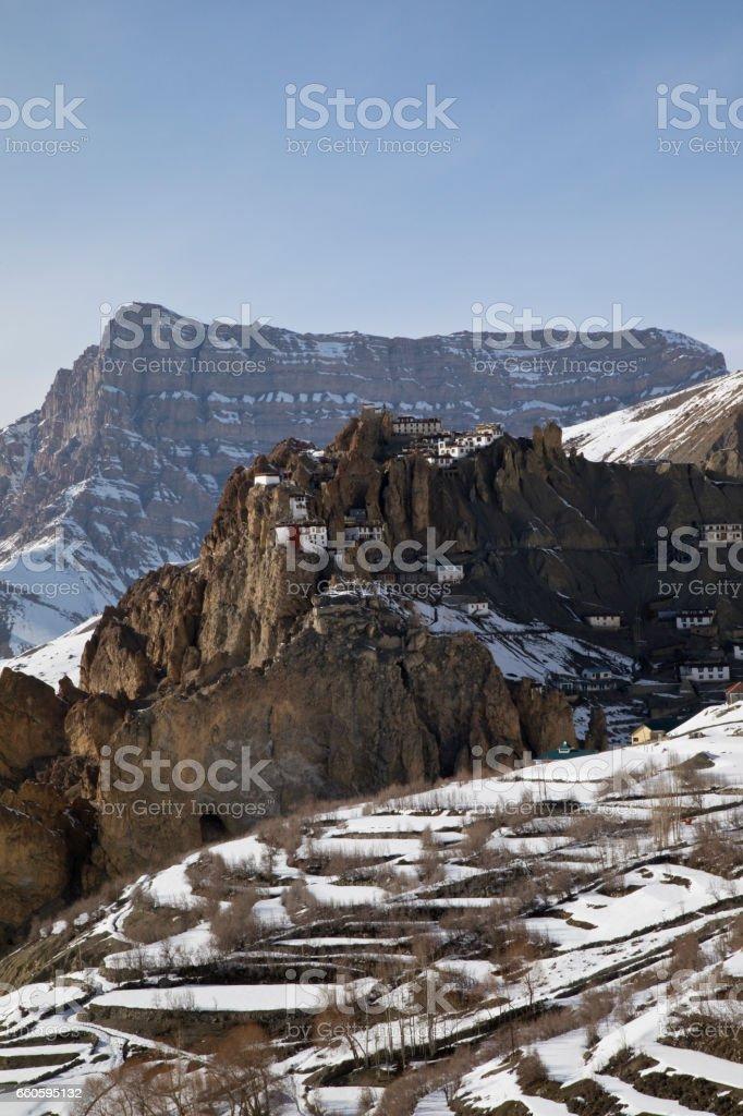 Dhankar Monastery Spiti Himachal Pradesh royalty-free stock photo