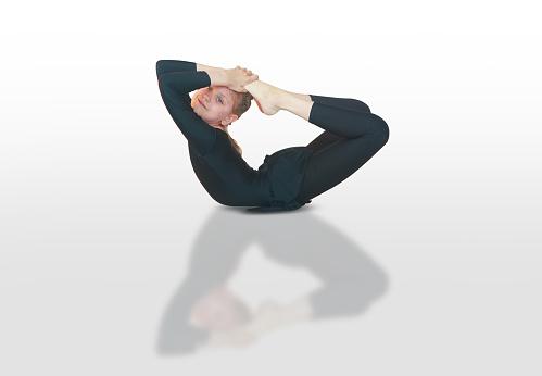 dhanurasana yoga stock photo  download image now  istock