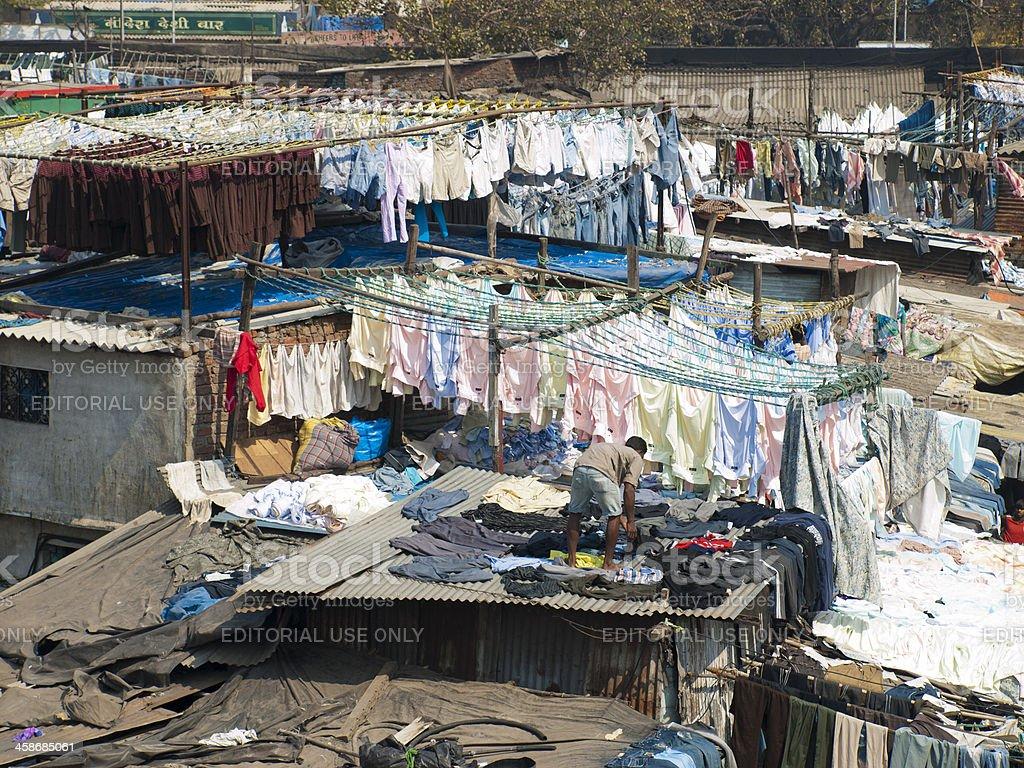 Dharavi Slum Laundry stock photo