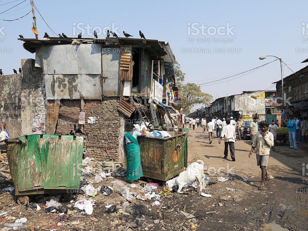 Dharavi Slum scene, Mumbai, India royalty-free stock photo