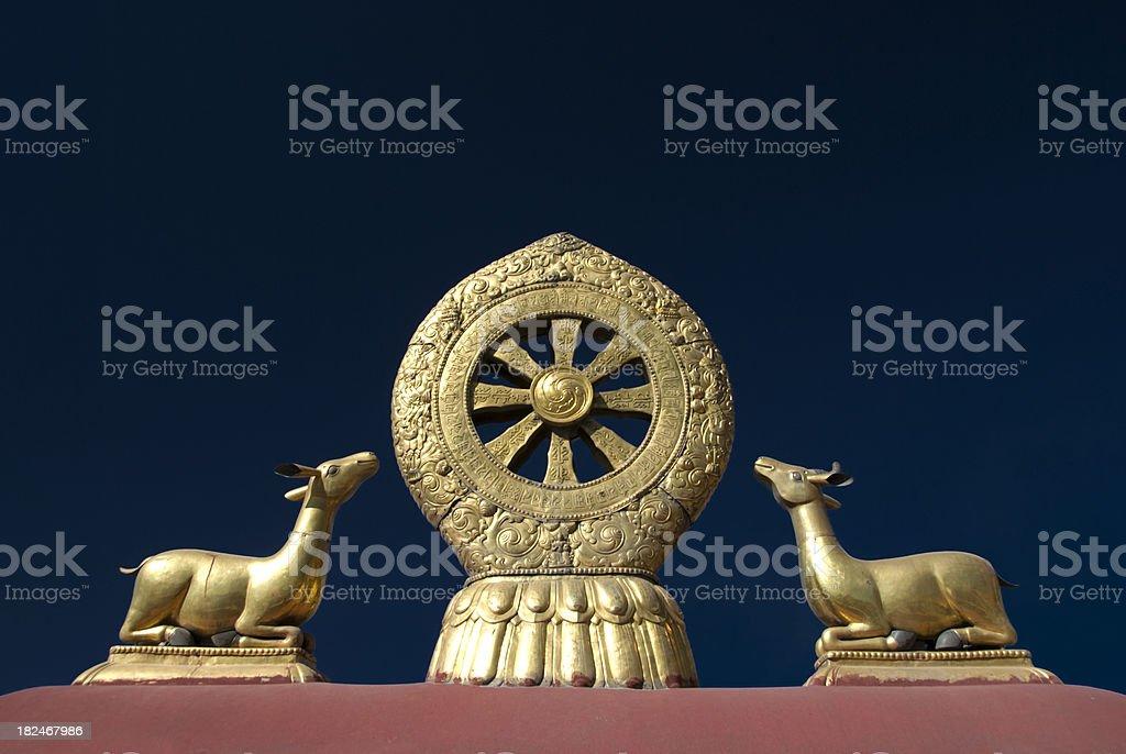 Dharma Wheel royalty-free stock photo