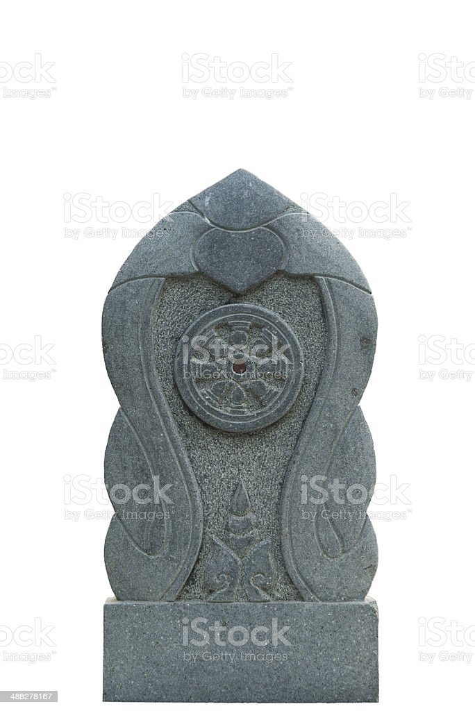 Dharmacakra, The Wheel of the Law, Stone Sculpture royalty-free stock photo