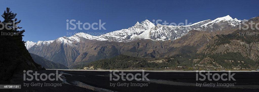 Dhaulagiri and Tukuche Peak royalty-free stock photo