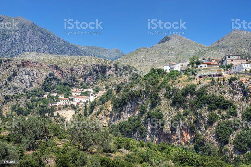 Dhermi Albania stock photo