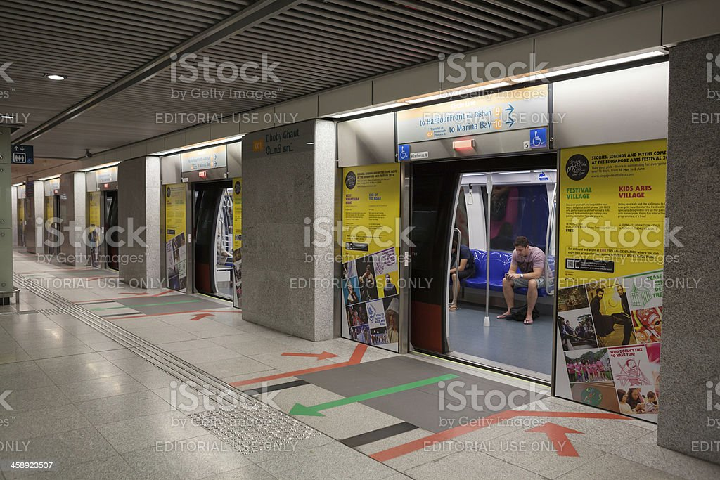Dhoby Ghaut MRT Station in Singapore royalty-free stock photo