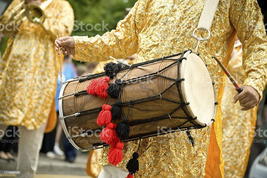 dhol drum stock photo