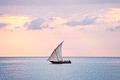 Dhow at dawn - Zanzibar