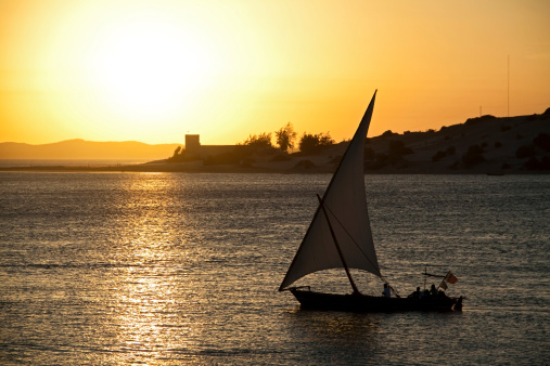 Dhow At Sunset Stock Photo - Download Image Now