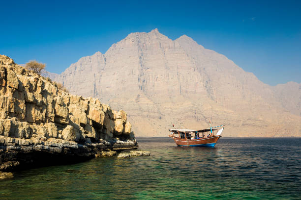 Dhow boat near the Musandam