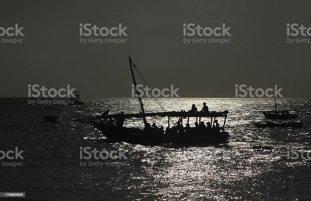 Dhow boat stock photo